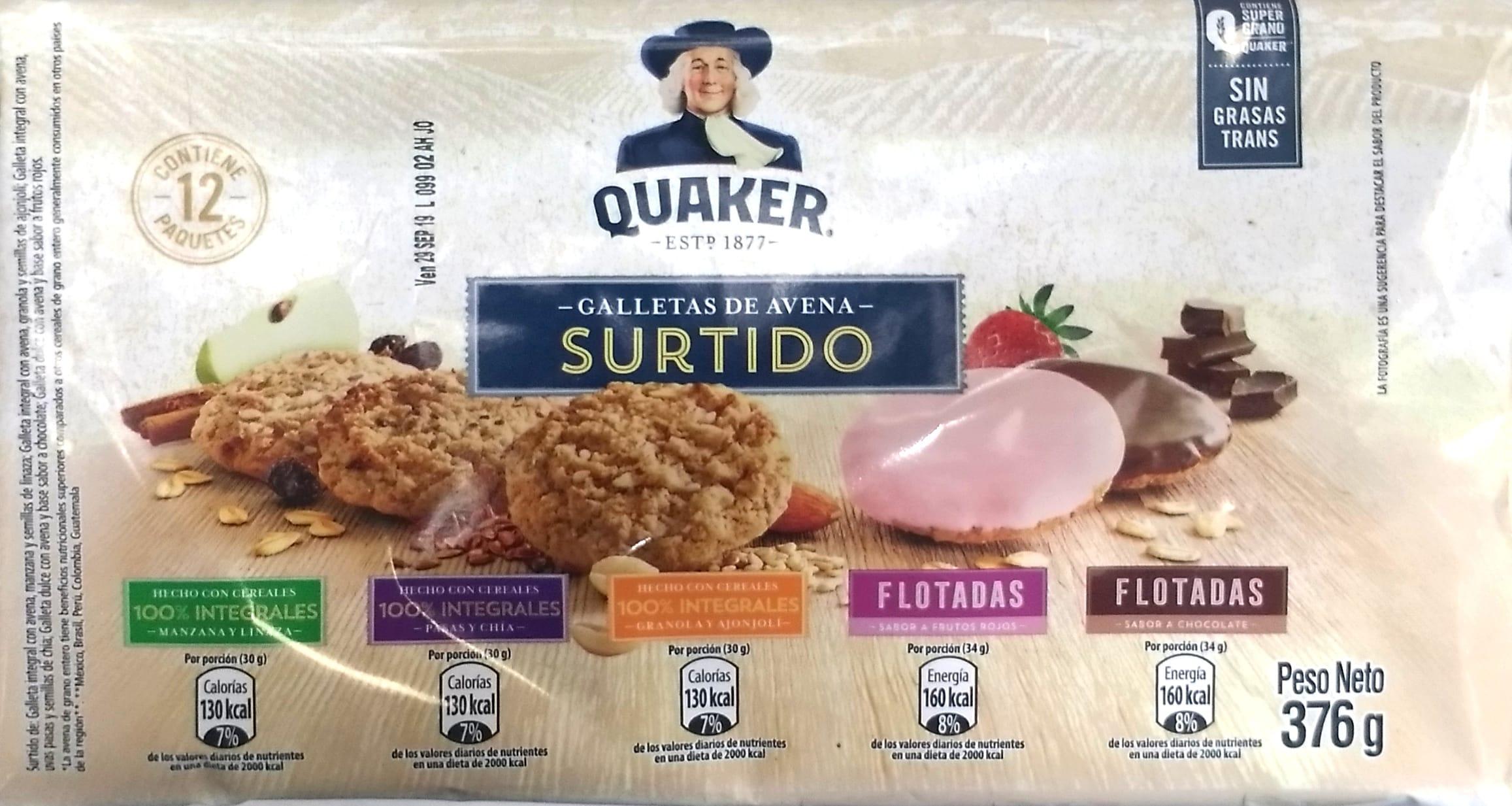 Galletas Quaker Surtidas X12u 376g