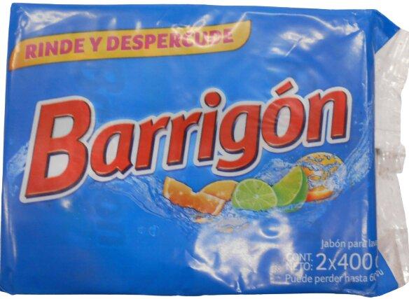 Jabón Lavar Barrigon Azul 400gx2