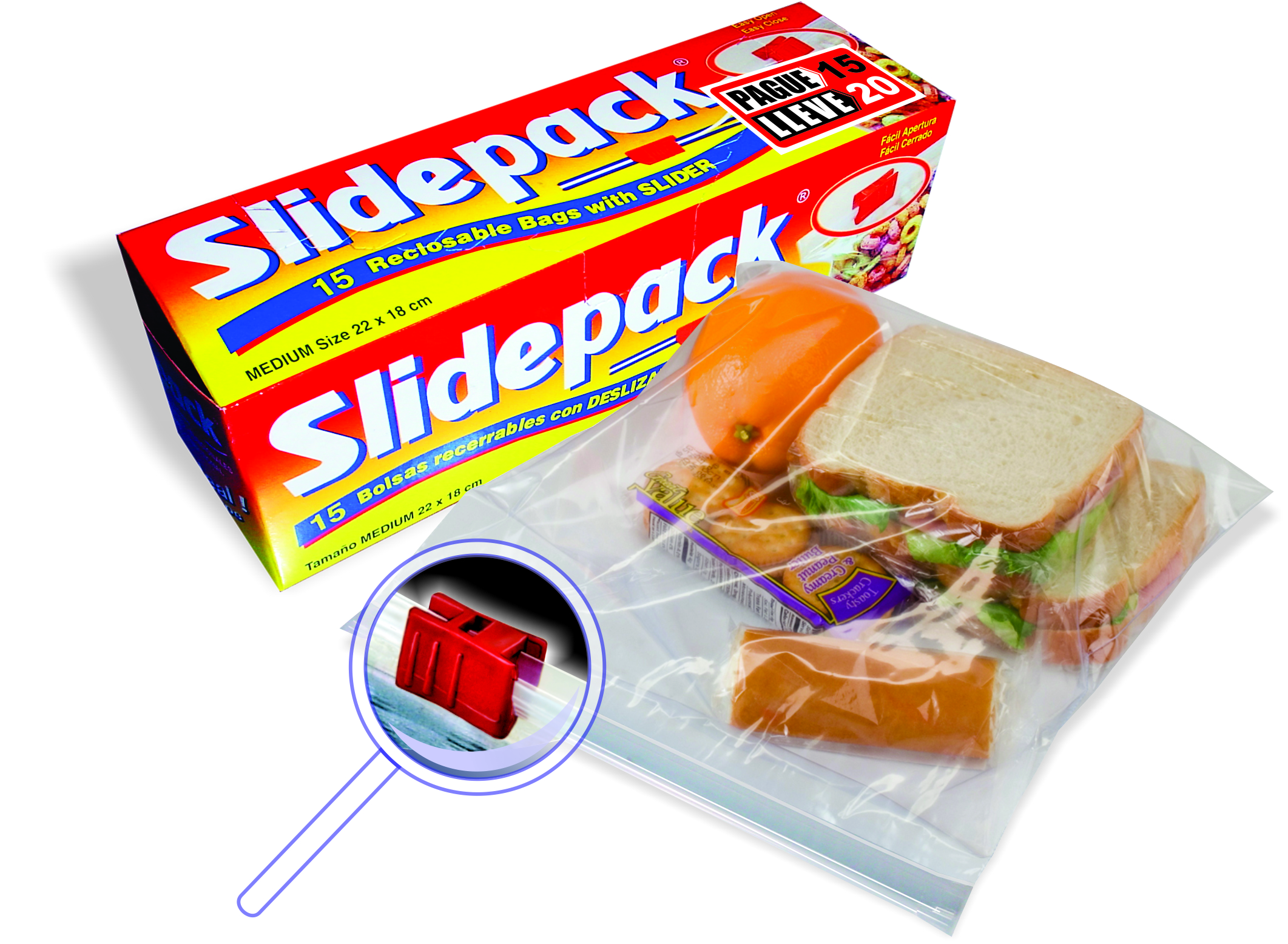 Bolsa Sliderpack Multiuso x 15