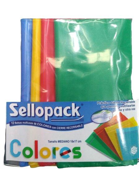 Bolsa Sellopack Colores x12