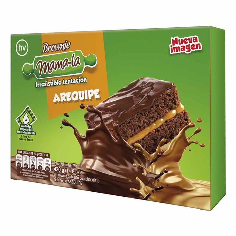 Brownie Mamaia Arequipe x6u 420g