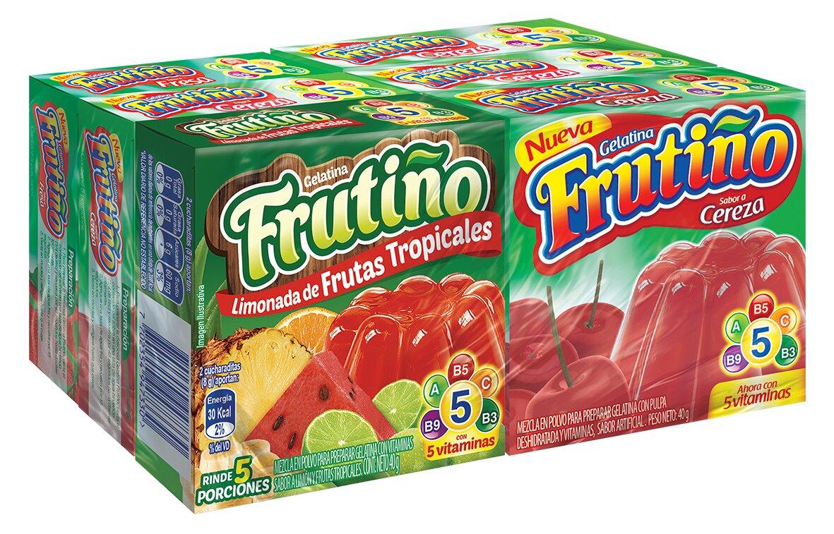 Gelatina Frutino Surtidas 40g x6
