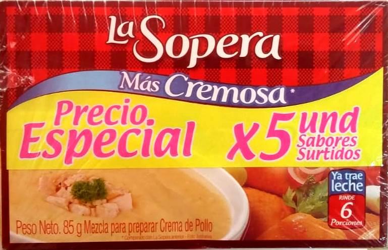 Crema Sopera Crema 6 Porciones 73gx5