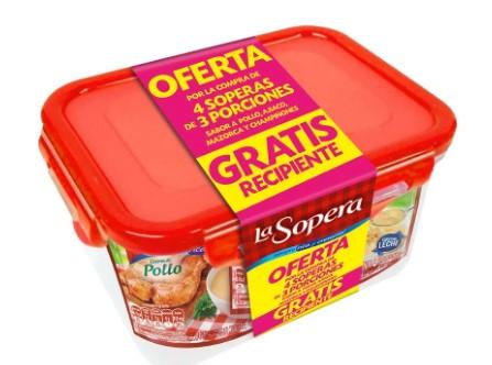 kit la Sopera 3 Porciones x4u Gratis Recipiente