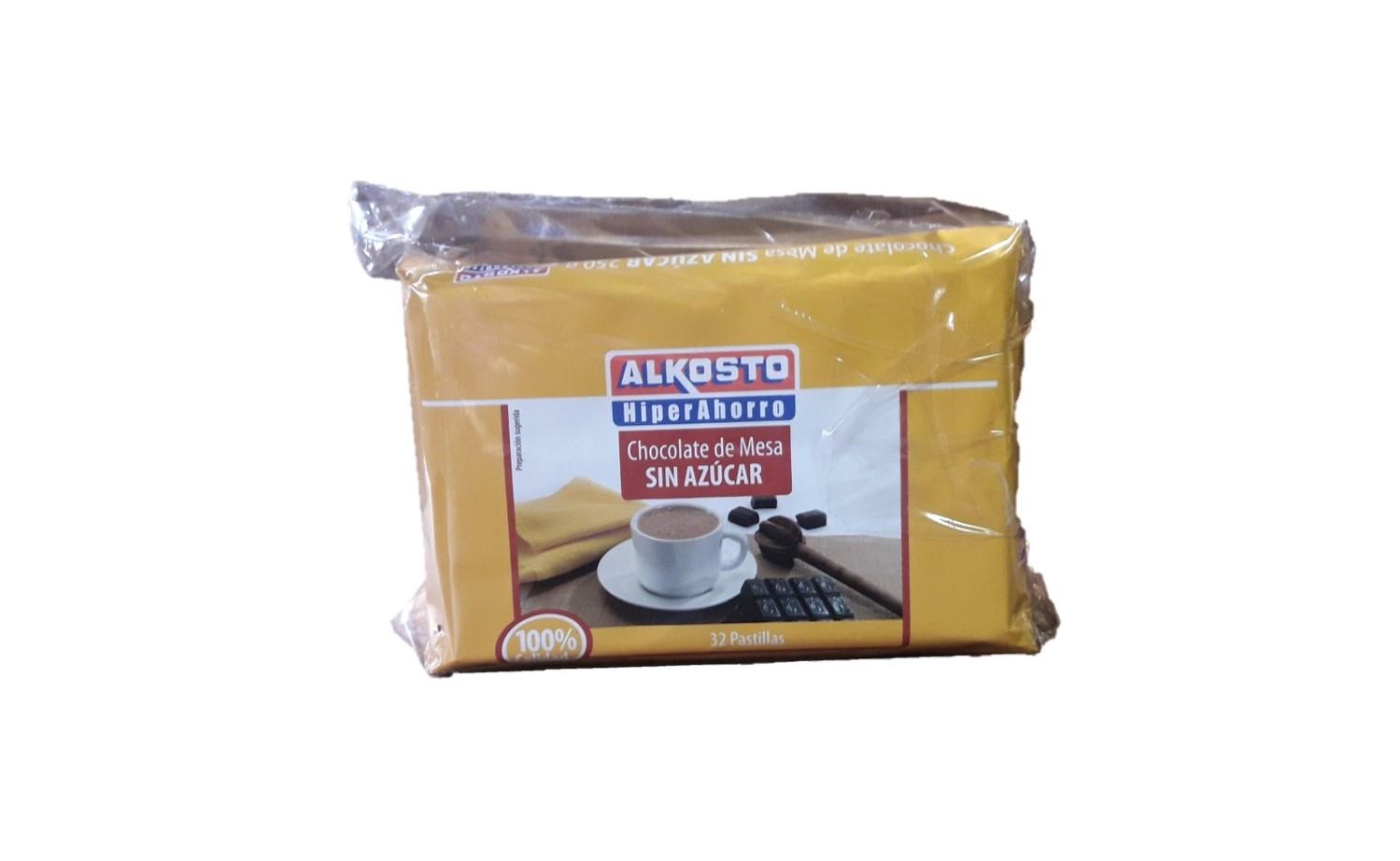 Chocolate de Mesa sin Azúcar Alkosto Amargo 250g x3