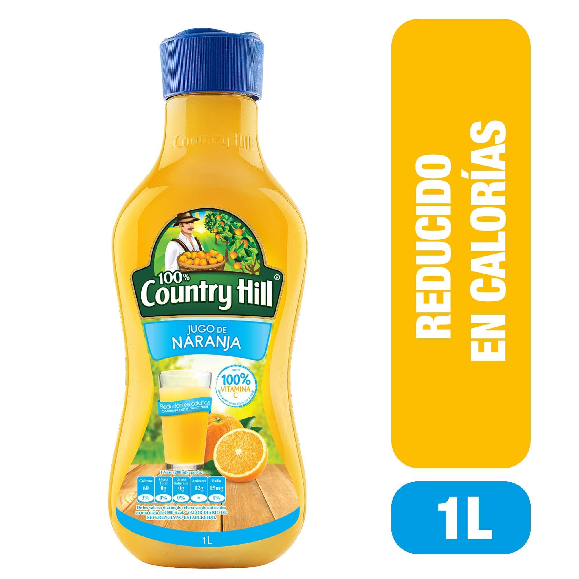 Jugo Country Naranja Reducido Calorías 1l
