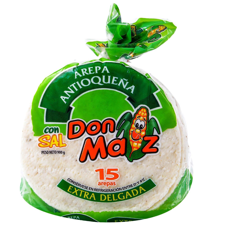 Arepa Extra Delgada con sal don Maiz 15u 900g