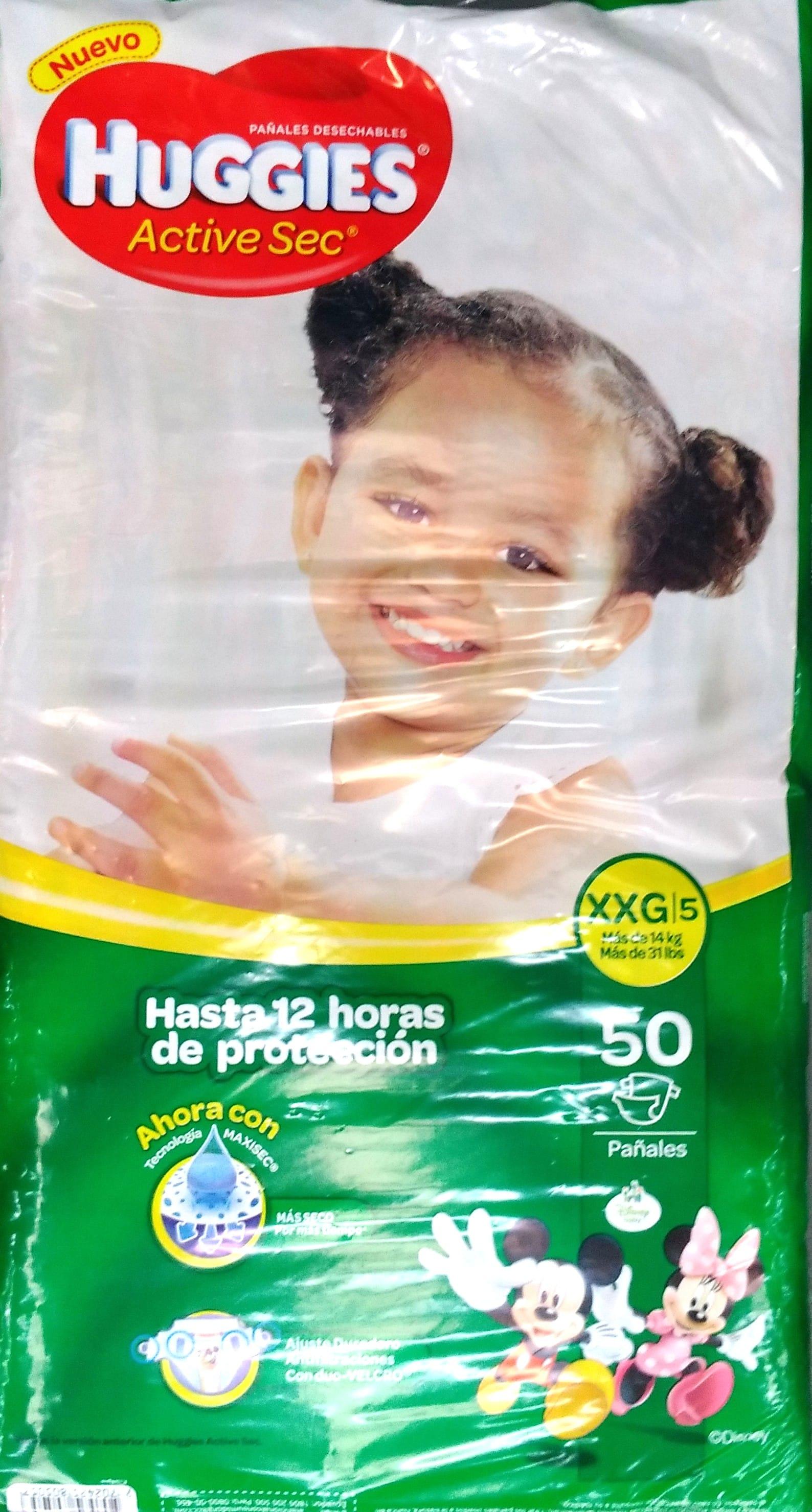 Pañal Huggies Active sec xxg x50