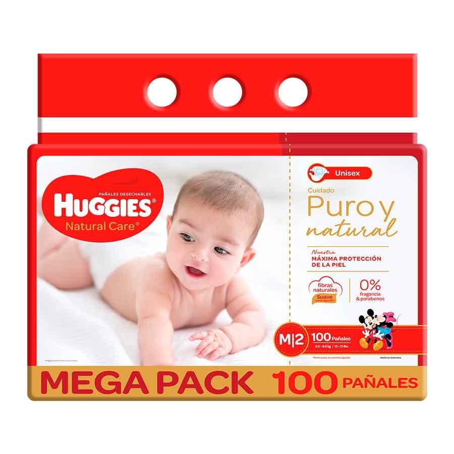 Pañal Huggies Natural Care m x 100und