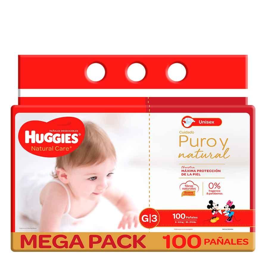 Pañal Huggies Natural Care g x 100und