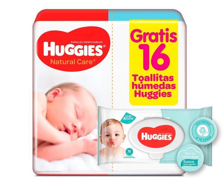 Pañal Huggies Nature Care Recien Nacido x 30 Toallitas