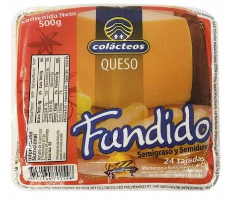 Queso Colacteos Fundido Tajado 500g