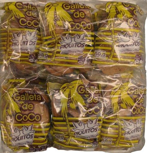 Galletas Piquitos Coco 50g X12u