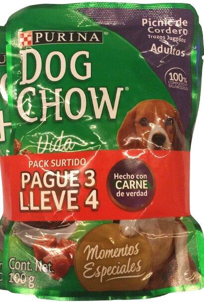 Alimento Humedo dog Chow Surtido 100gp3l4
