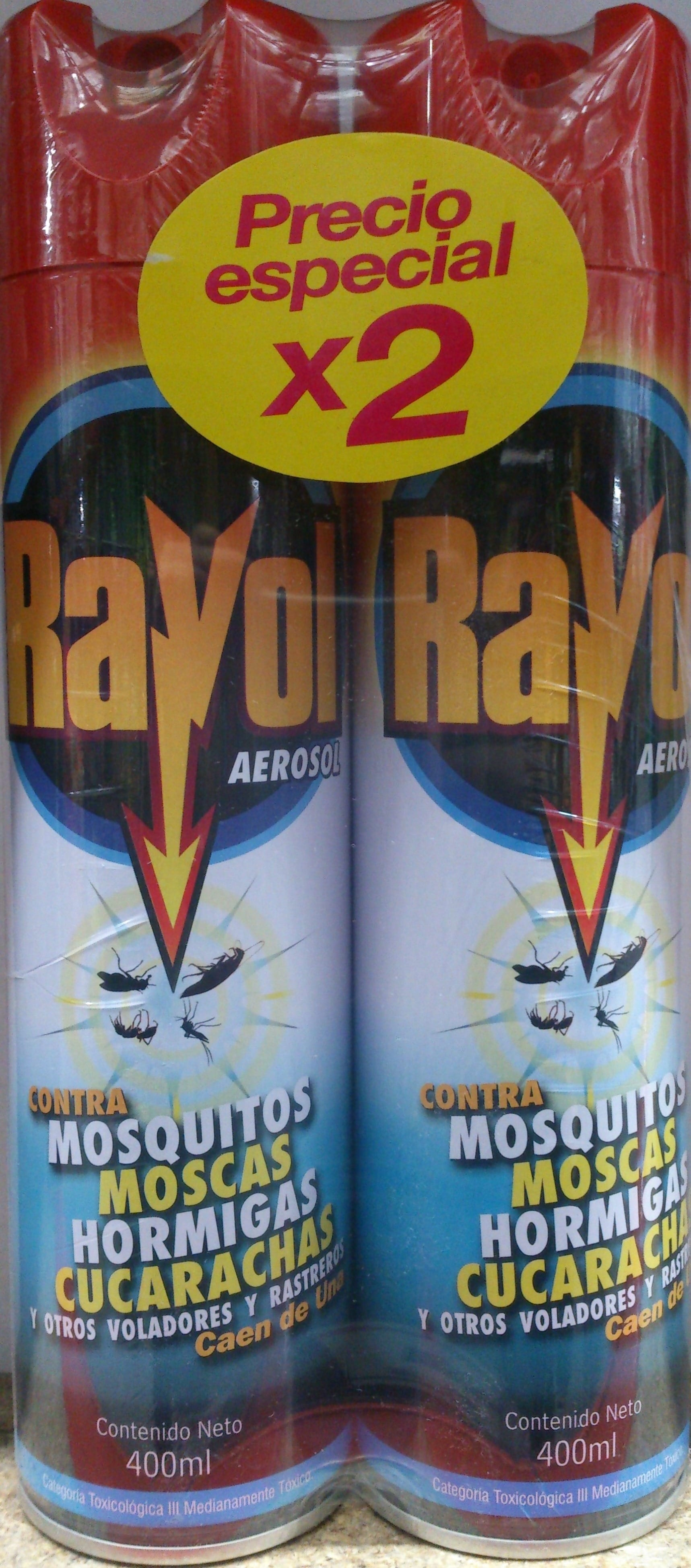Insecticida Aerosol Rayol Matatodo 400mlx2