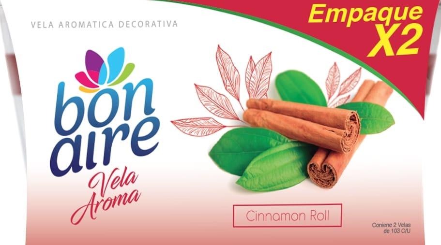 Ambientador Vela Bonaire Cinnamon Roll 103gx2