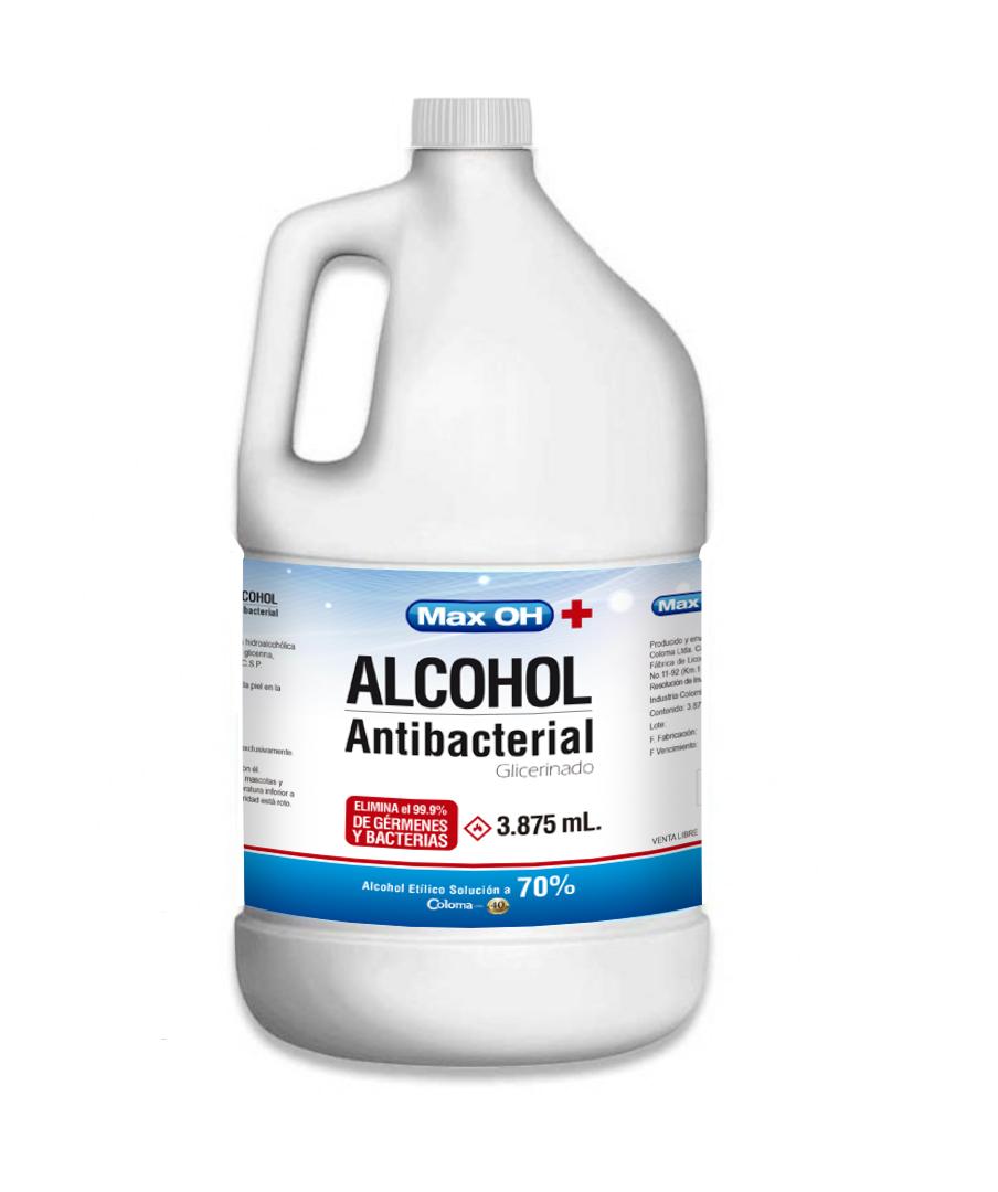 Alcohol max oh Antibacterial 3 785ml