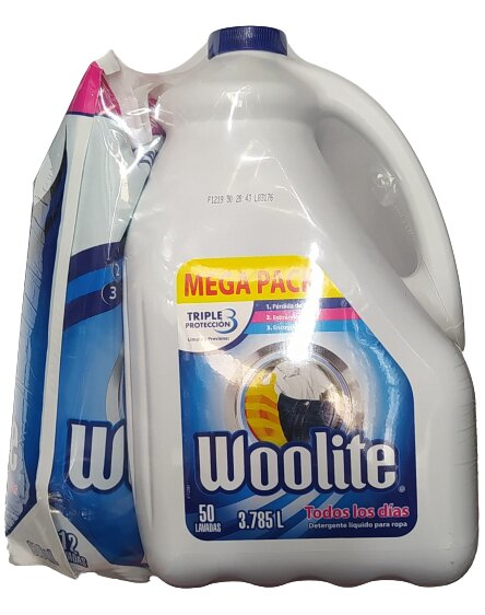 Detergente Liquido Woolite Todos los Dias 3785l 900ml