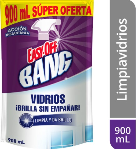 Limpia Vidrios Easyoff Bang 900ml