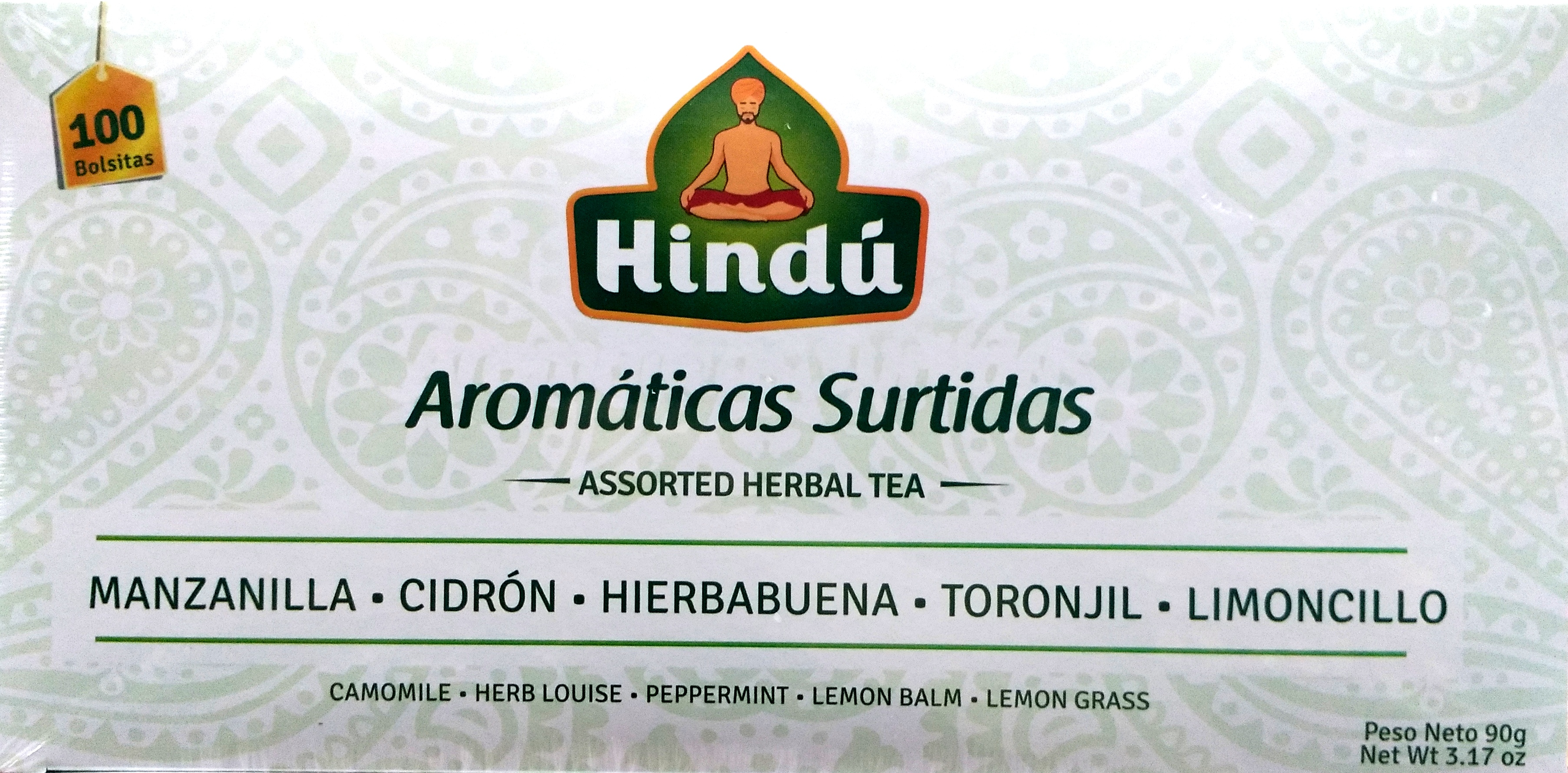 Aromatica Hindu Surtidas X100 90g
