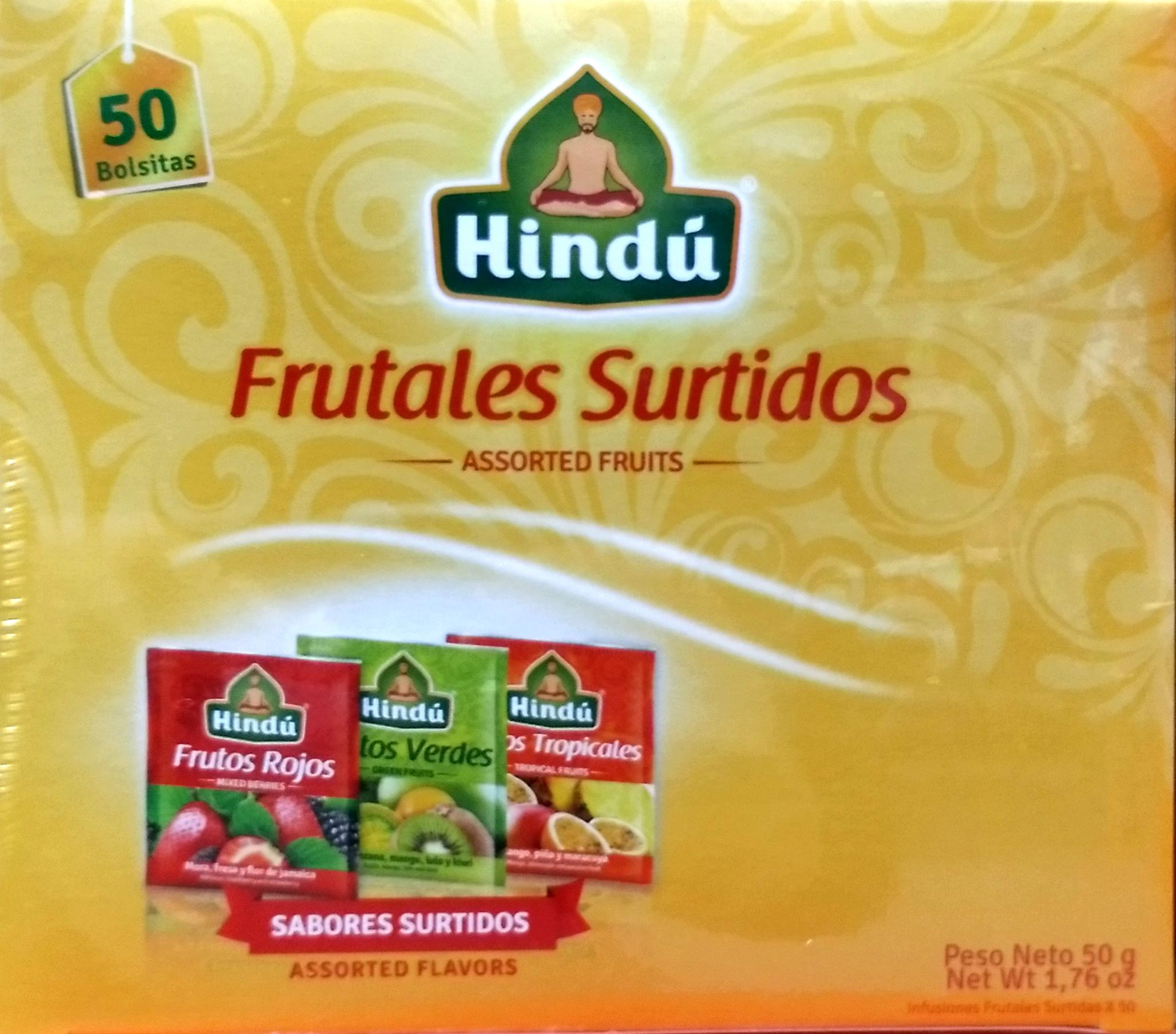 Infusion Hindu Frutales Surtidos X50u 50g