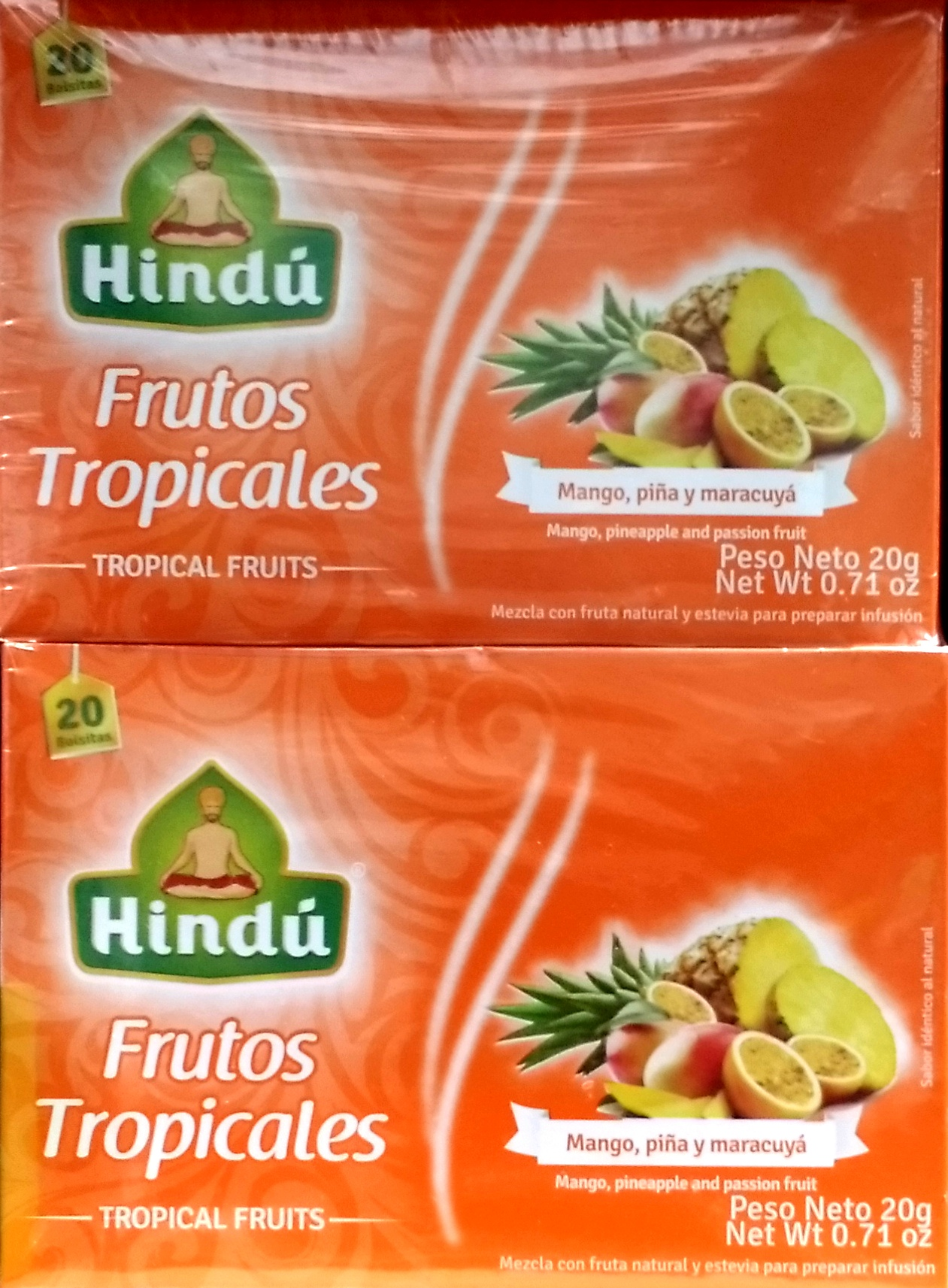 Infusion Hindu Frutos Tropicales 20ux2 40g