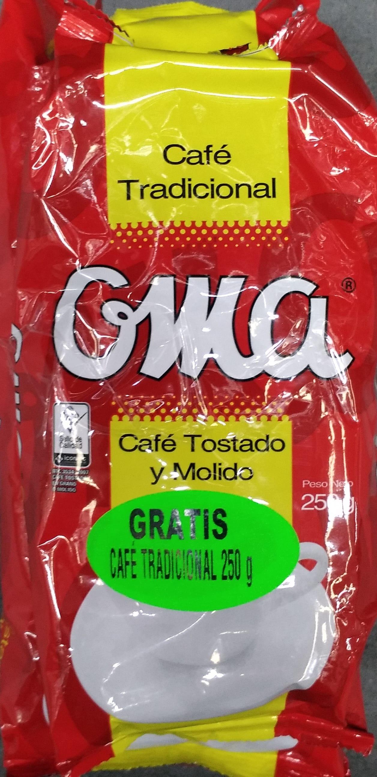 Cafe oma Tradicional Colombiano 500gx2 Gratis 250