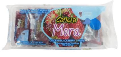 Pulpa Canoa Congelada Mora 900g