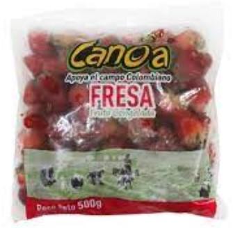 Fruta Congelada Canoa Fresa 500g