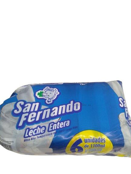 Leche san Fernando Entera 1100mlx6u