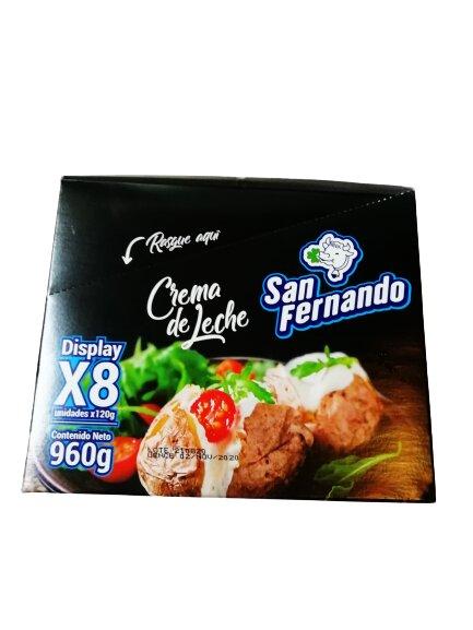 Crema Leche san Fernando x8u 960g