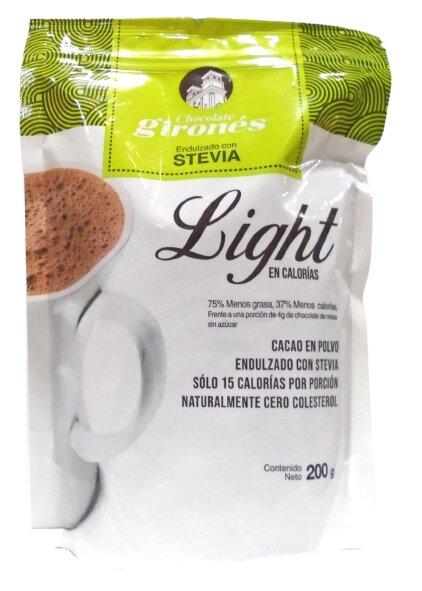 Chocolate Girones Light Polvo Stevia 200g