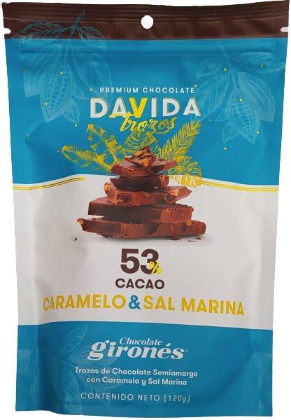 Chocolate Davida Caramelo & sal Marina120g