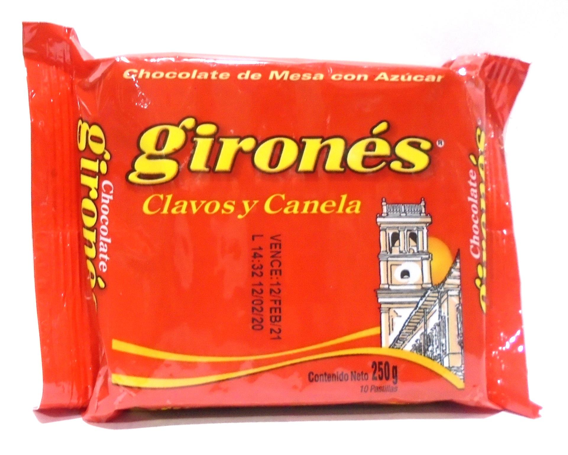 Chocolate Girones Clavos y Canela 250g