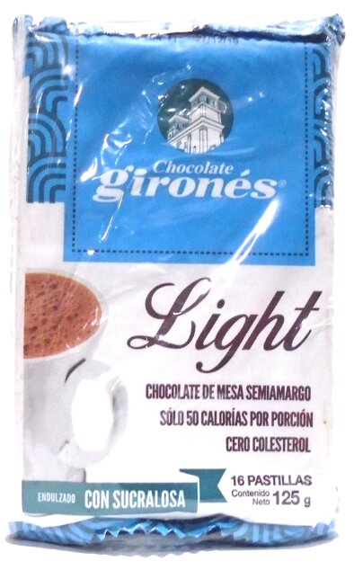 Chocolate Girones Light Sucralosa 125gx2