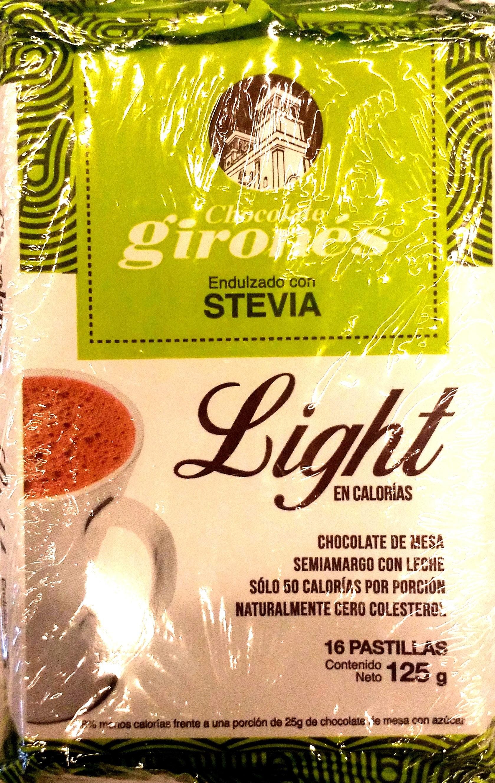 Chocolate Girones Light Stevia 125g x2