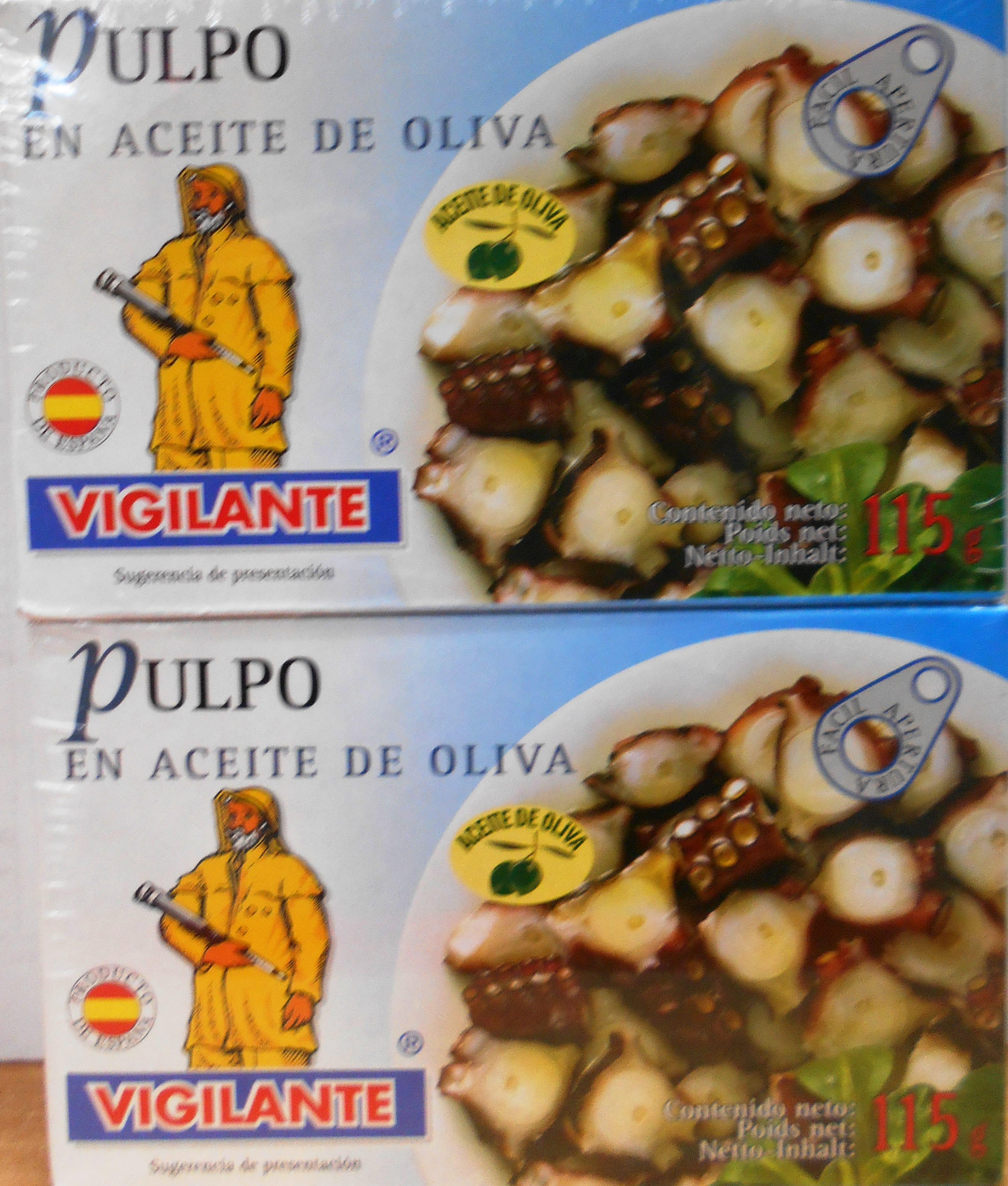 Pulpo Vigilante Aceite de Oliva 115gx2