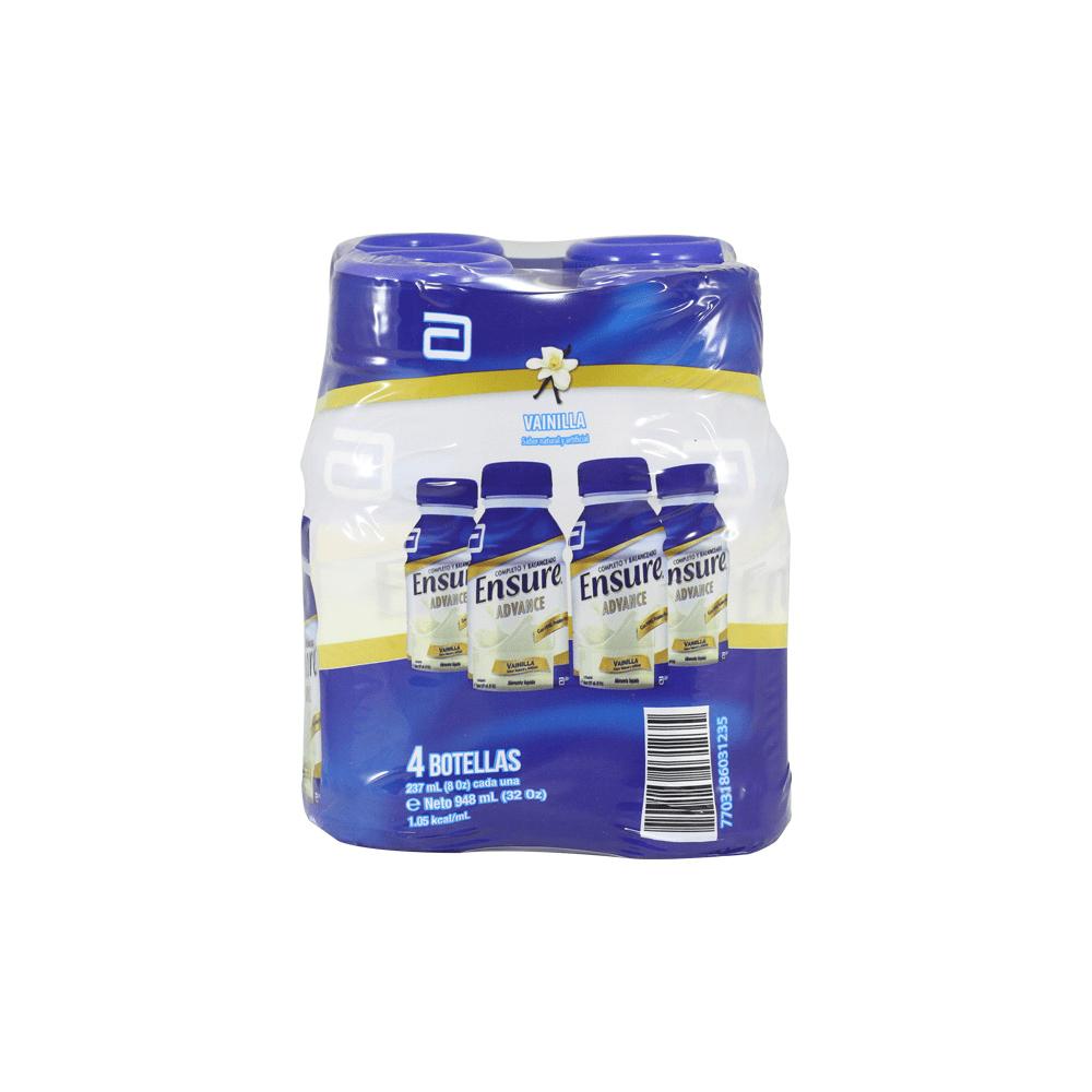 Alimento Liquido Ensure Vainilla 237mlx4