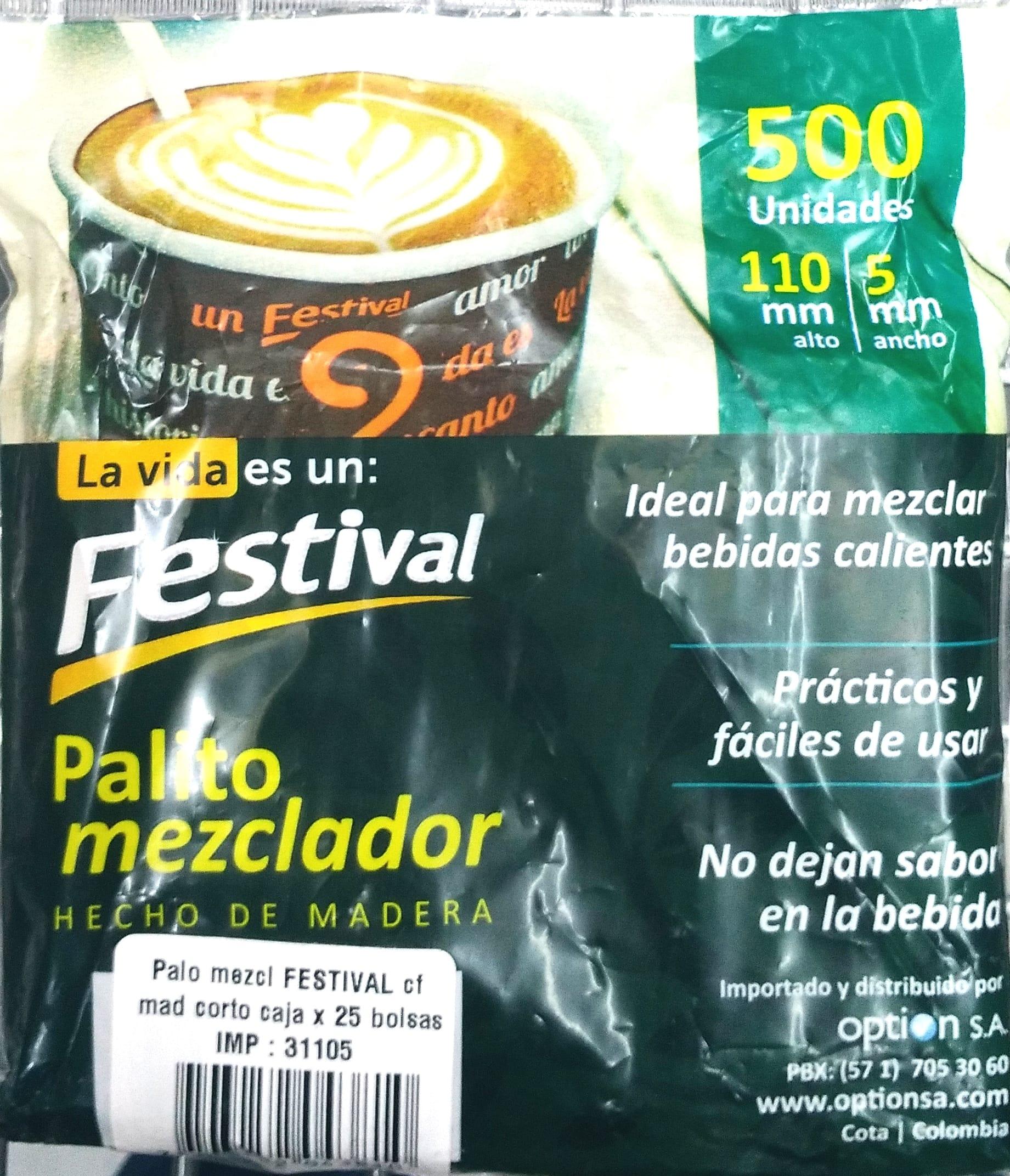 Palo Mezclador Festival Madera 500und