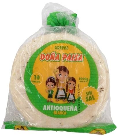 Arepa Doña Paisa Antioqueña 10 und x 1000g
