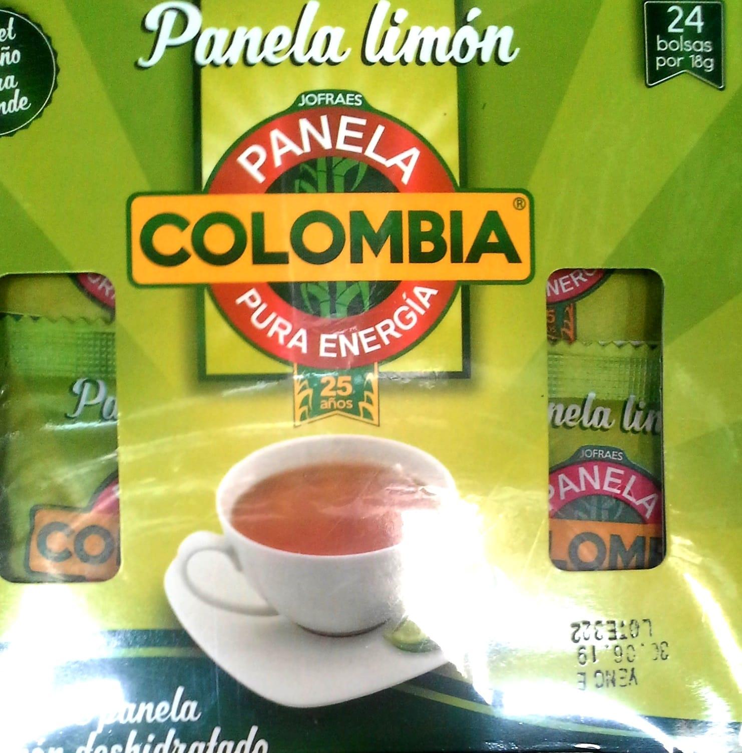 Panela Colombia Limon 18g X24u