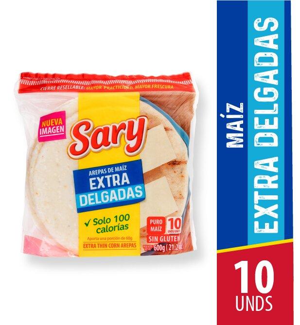 Arepa de Maiz Extra Delgada Sary 10 und 600g