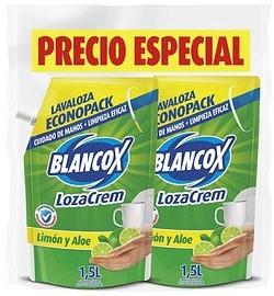 Lavaloza Lozacrem Liquido Limón y Aloe 1 5lx2