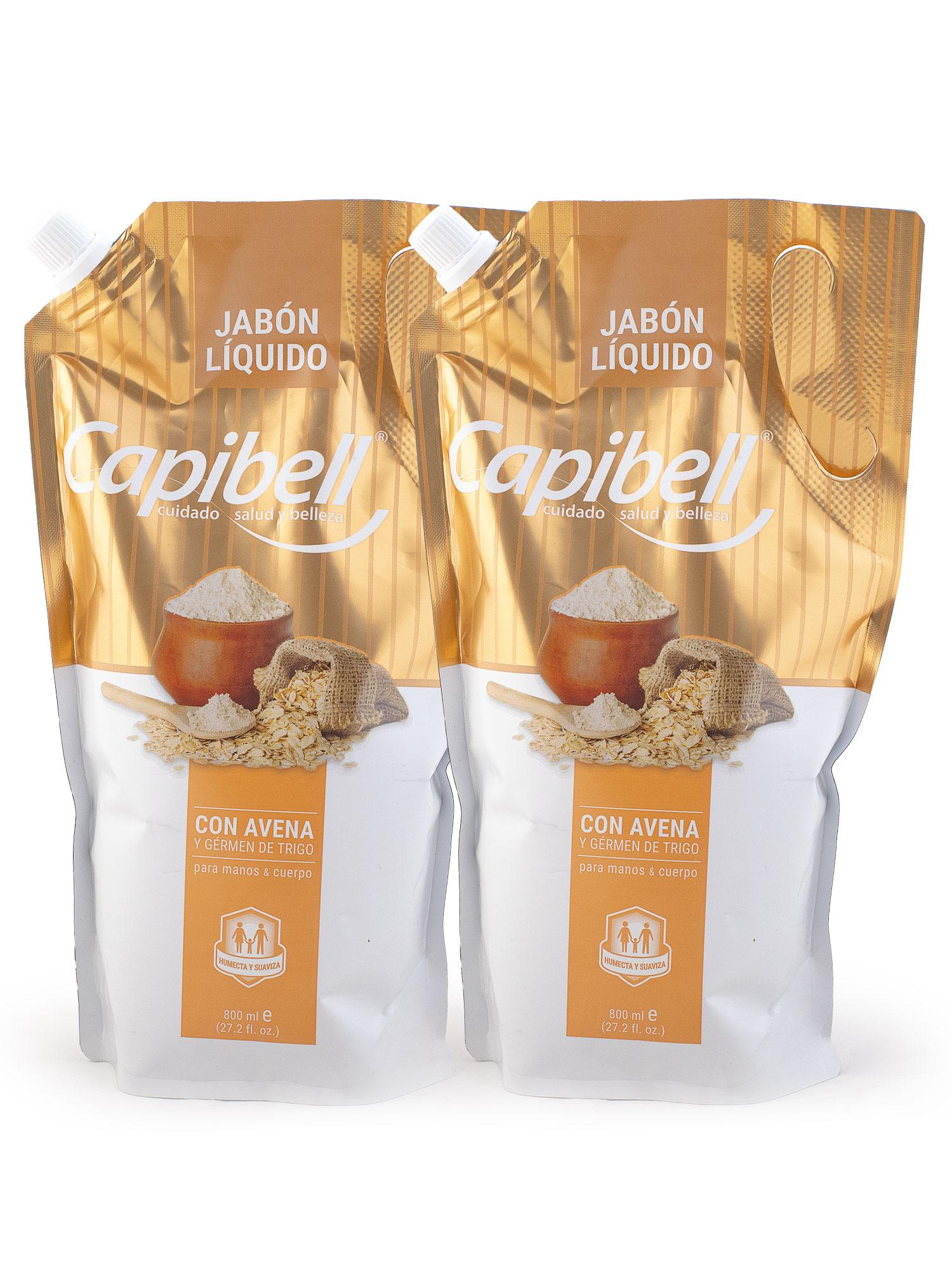 Jabón Liquido Capibell Surtido con Avena y Germen de Trigo 800mlx2pe