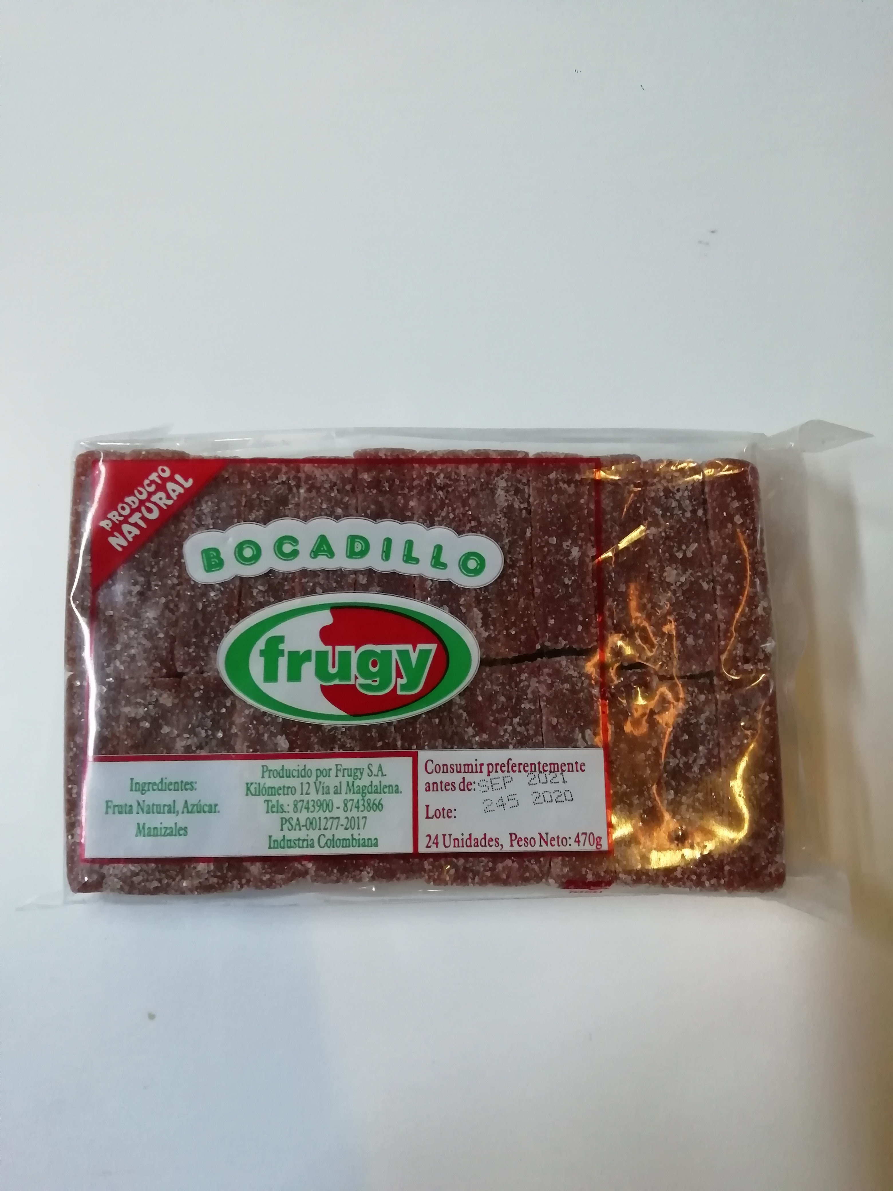 Bocadillo Azucar Frugy 24u 470g