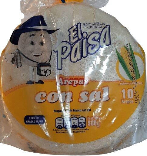 Arepa el Paisa con sal 10 und 900g