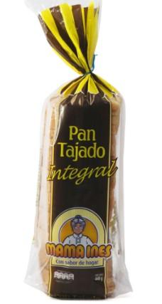 pan Tajado Integral Mama Ines 440g