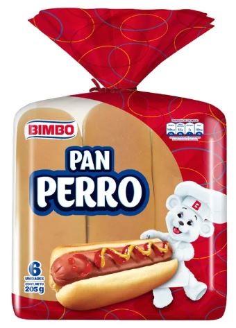 pan Perro Bimbo 6u 205g