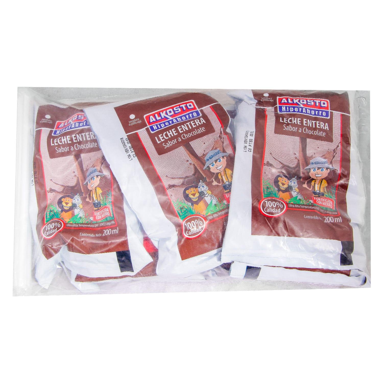 Leche Chocolate Alkosto Bolsa 200ml x6u