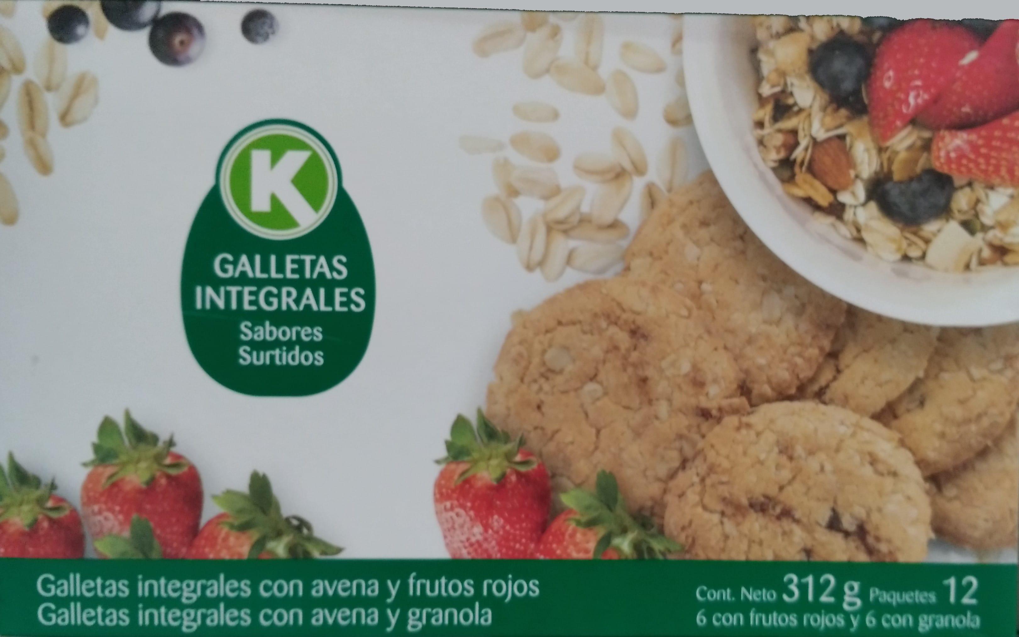 Galletas k Integrales Surtidas Alkosto X12u 312g